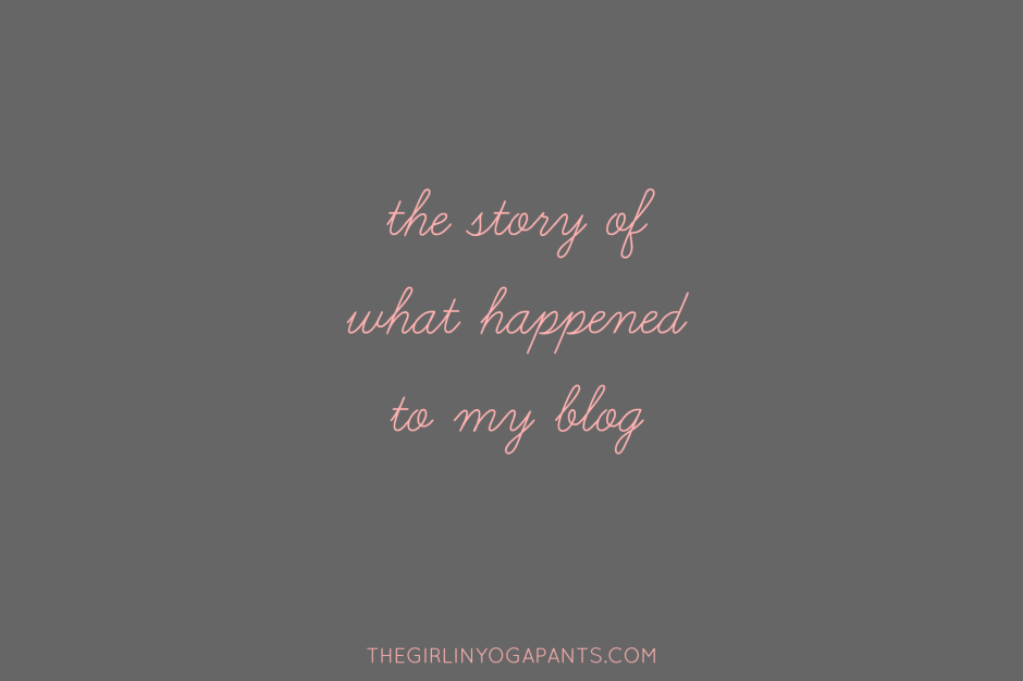 The Story Of What Happened To My Blog
